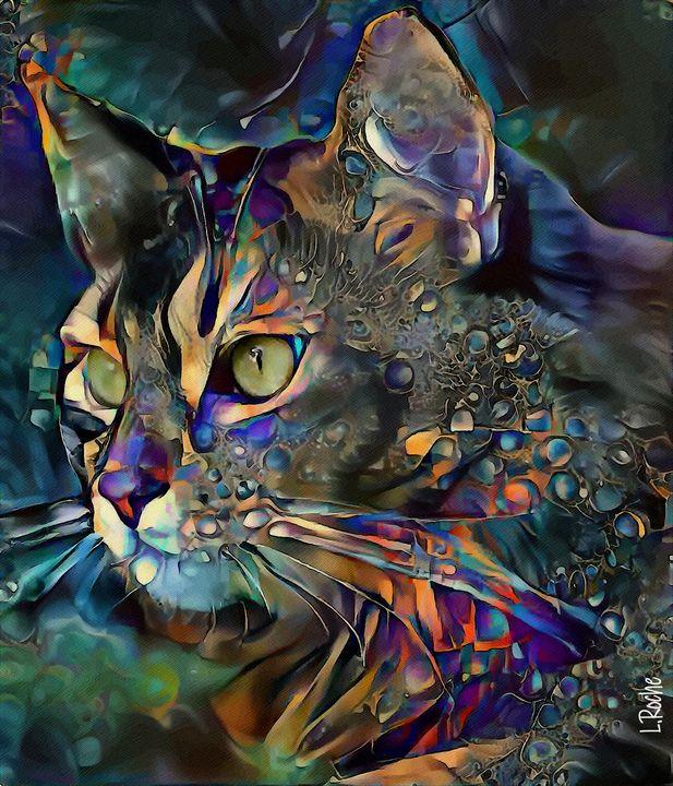 soghor, cat - 70x60 cm - Léa ROCHE