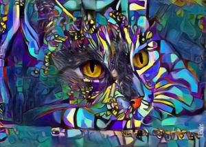 Elma, cat - 70x50 cm