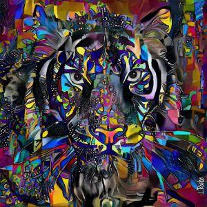 Tiger party - 60x60 cm - Léa ROCHE