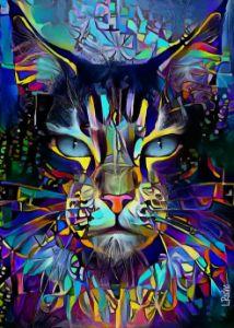 Omer Jr., cat - 70x50 cm - Léa ROCHE