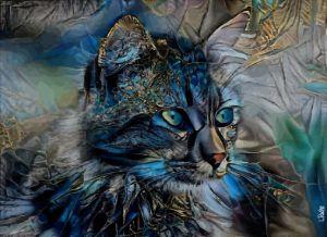 Arnaelle, cat - 80 x 58 cm