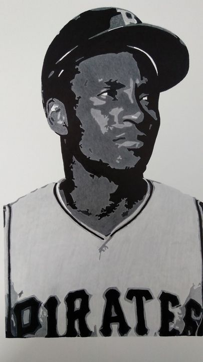 Hall of Fame Legend Roberto Clemente - Grayscale Greats