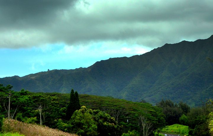 Kapa'a Mountains - Shirleypix Art & Photography