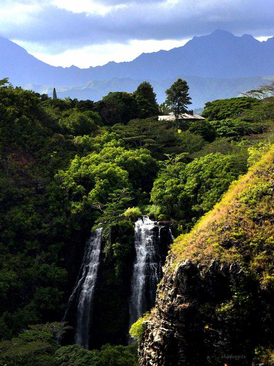 Opaekaa Falls - Shirleypix Art & Photography