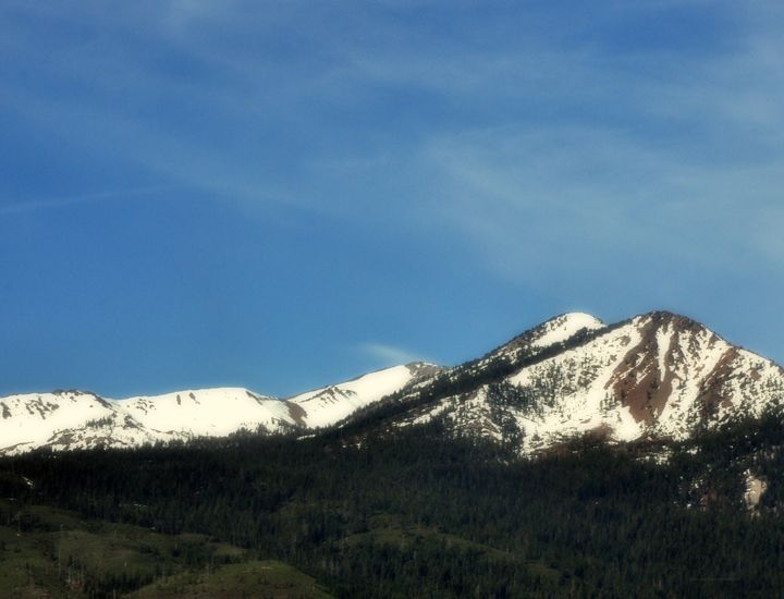 Snow Capped Mountain - Shirleypix Art & Photography