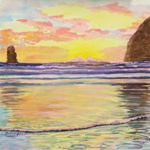 Oregon Coast Reflection: Oh Baby