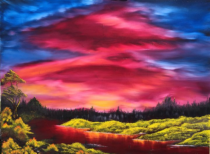Sunset in Fern Gully - Works by Sierra Sunset