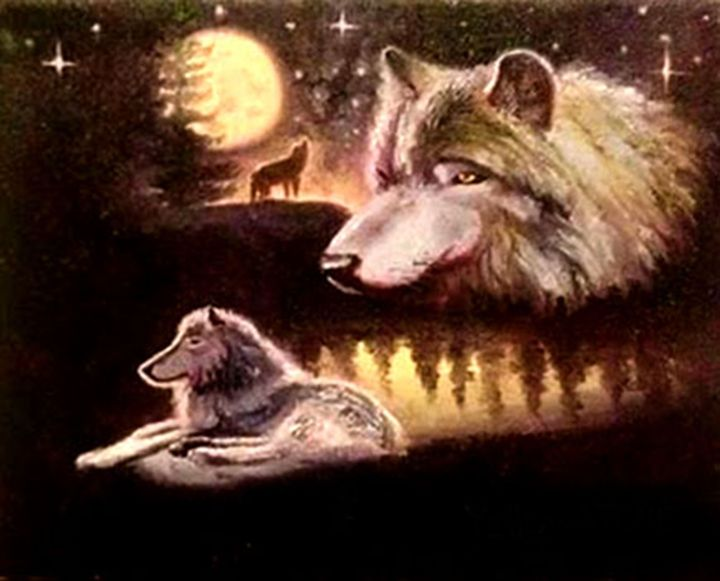 Wolves At Starry - Benjamin Davis