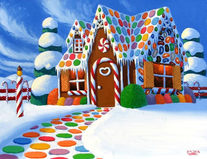 Christmas Gingerbread House - Benjamin Davis