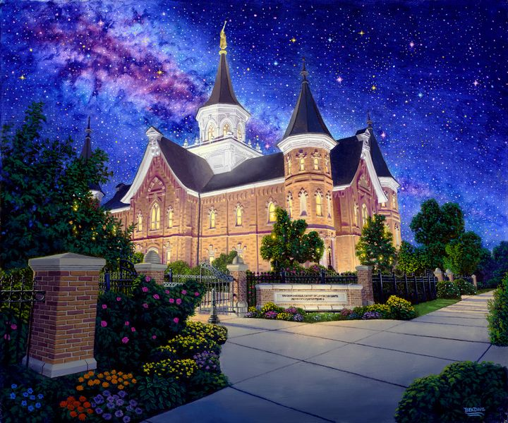 Provo City Center Temple Galaxy - Benjamin Davis