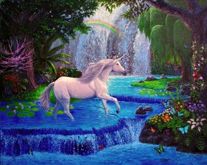 Unicorn In Paradise