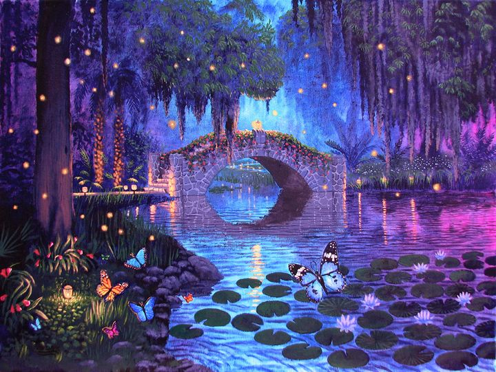 Lovely Bridge Evening - Benjamin Davis