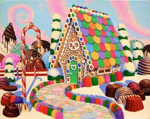 Gingerhouse In Candyscape