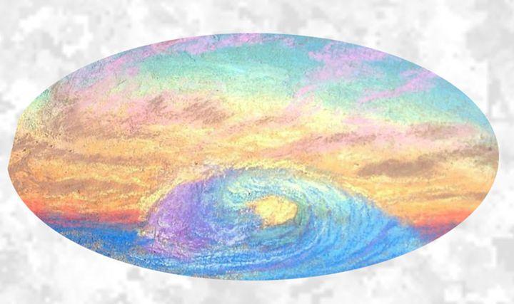 The Wave Paradise Sunset - Benjamin Davis
