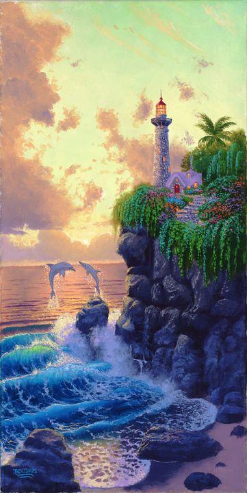 Lighthouse Sunset In Paradise - Benjamin Davis