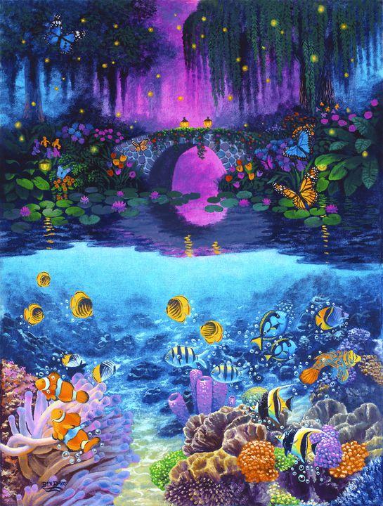 Underwater & Above Evening - Benjamin Davis