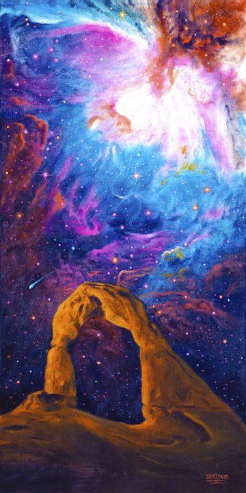 Delicate Acrh Above Galaxy - Benjamin Davis