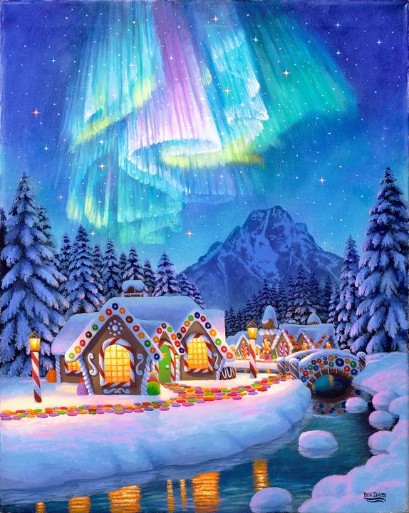 Northern Lights Gingerbread Village - Benjamin Davis