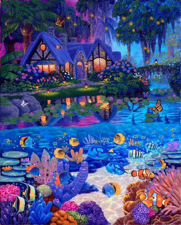 Cottage Garden Above & Life Underwat - Benjamin Davis