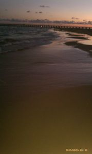 shoreline at dusk.