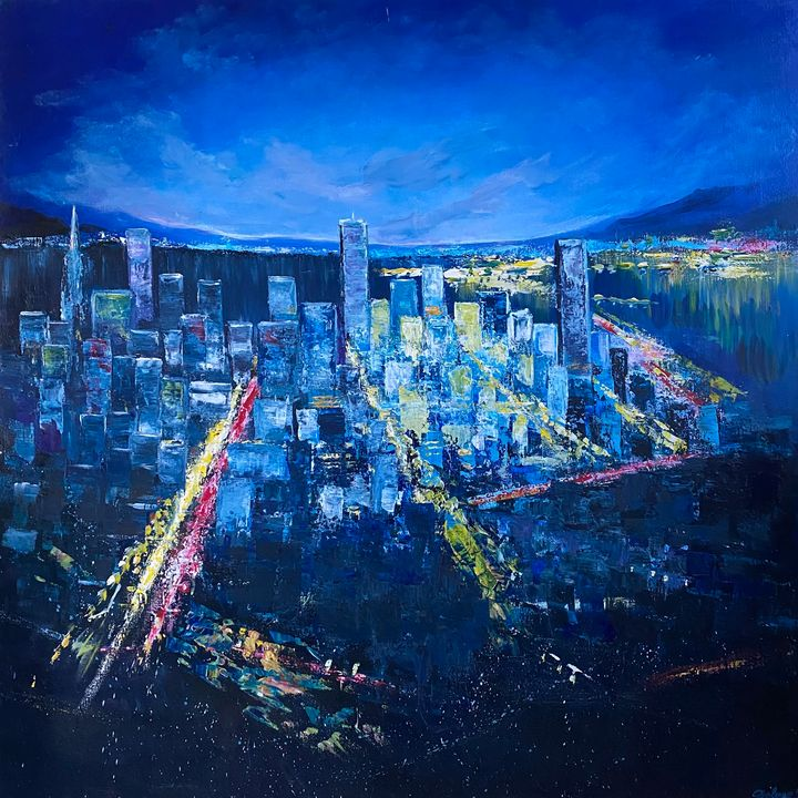 Night city lights - DolgorArt