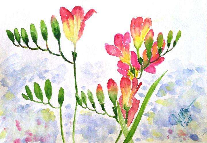 Frezia flowers - Jovanka Papathanasiou