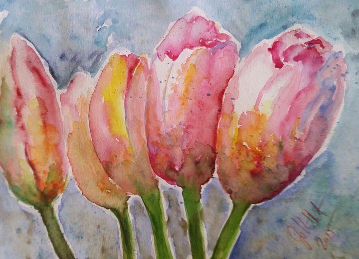 Tulip buddies - Jovanka Papathanasiou
