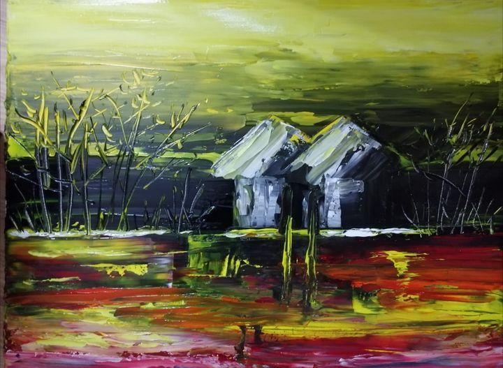 Acrylic landscape - Surinder