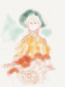 A girl riding a bike
