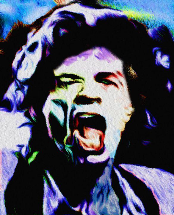 Nixo Jagger Rolling Stones Art 01 - Nixo