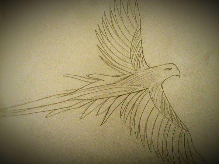 Falcon - Abstract art