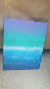 The Sea Glitter Painting