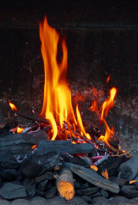 ORANGE FLAMES - Karine P