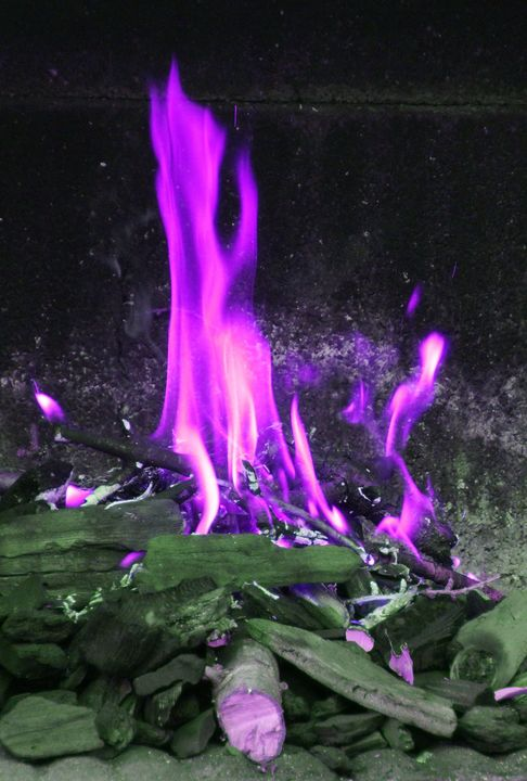 PURPLE FLAMES - Karine P
