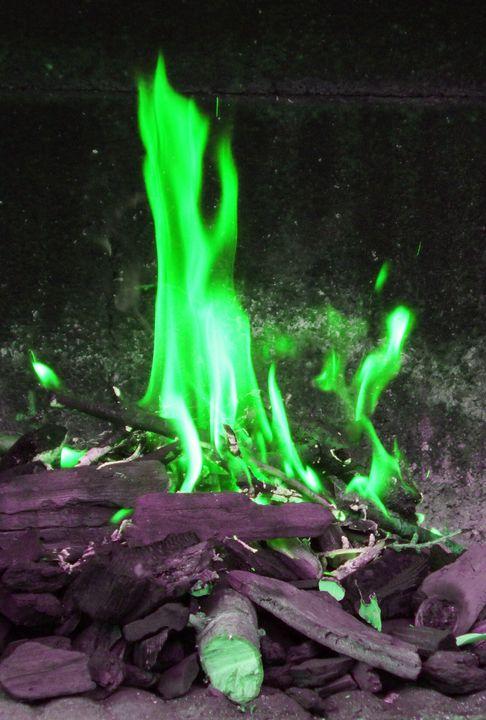 GREEN FLAMES - Karine P