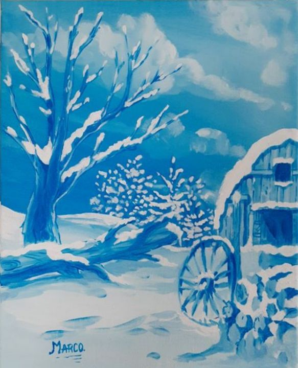 Country barn in the snow - Charlie Marco