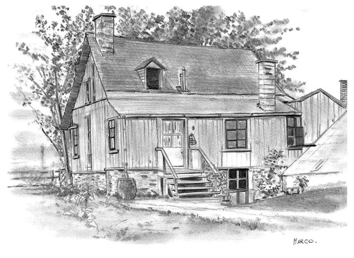 Traditional farmHouse from Québec - Charlie Marco