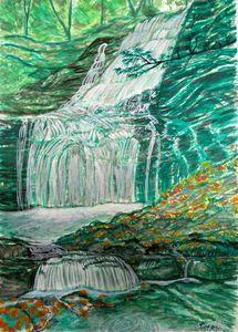 Waterfall in Xitou Taiwan