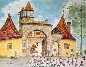 Rödertor (Röder Gate) in Rothenburg