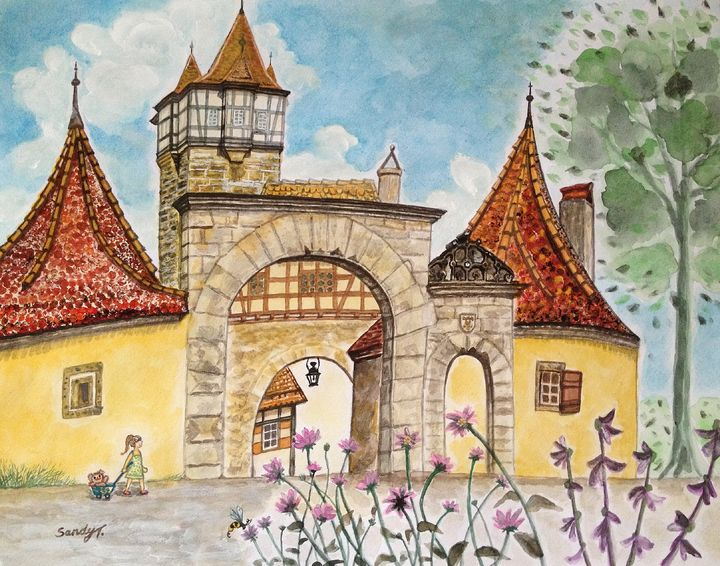 Rödertor (Röder Gate) in Rothenburg - SandyArt