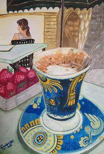 Café au lait in Aix-en-Provence
