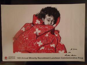 Red Cross Art Print Red Quilt