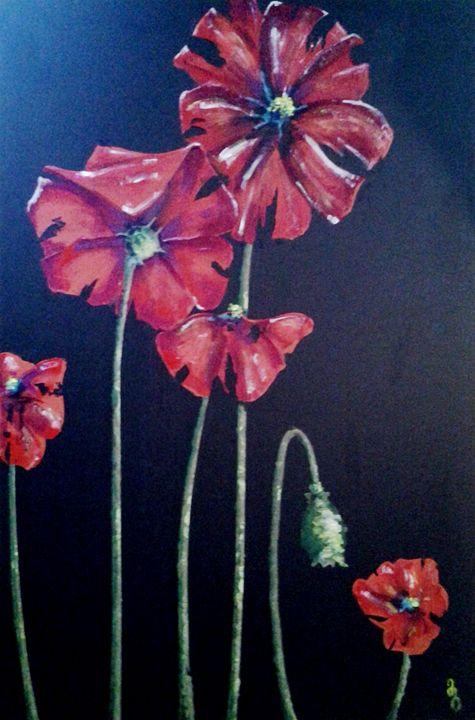 poppies - George Mika