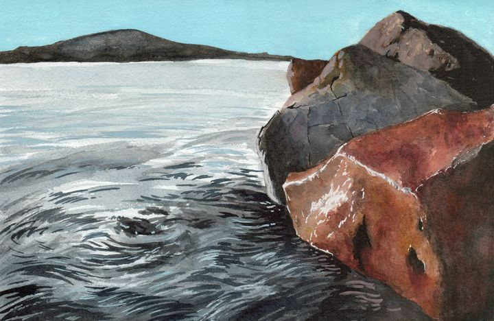Red Rock and Ocean - Maho's Gallery