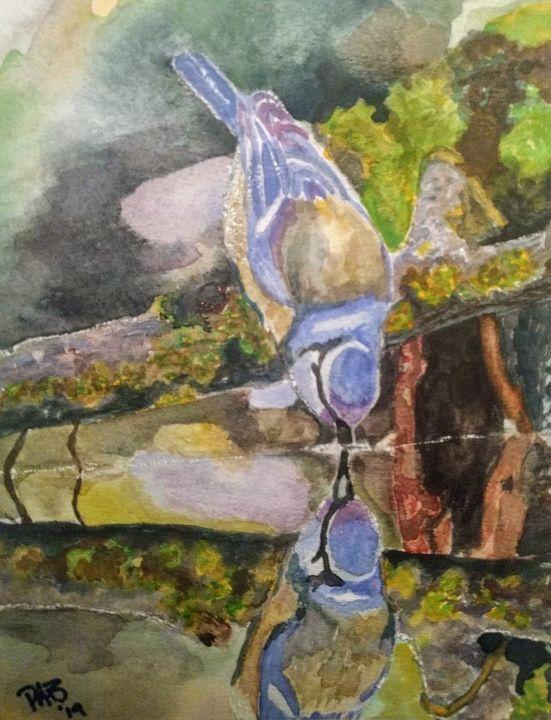 Reflected Bluebird - Paige1Designs
