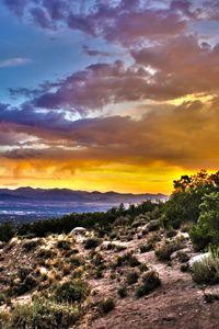 Oquirrh Mountain Sunset
