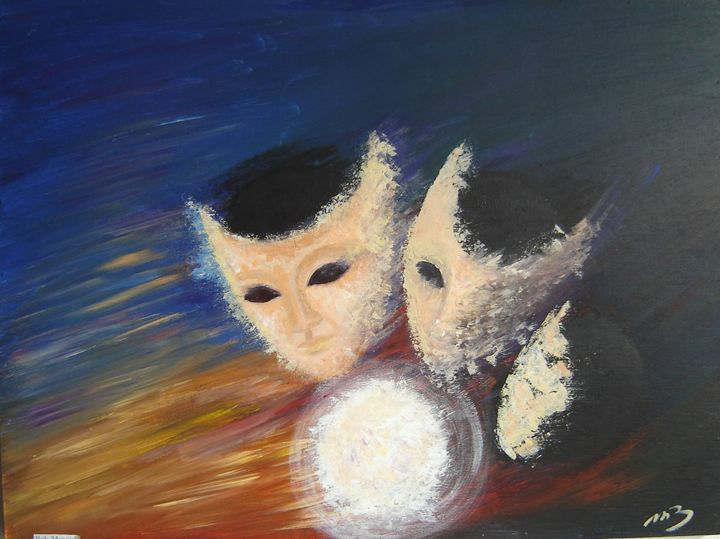 Masked balls - M.B in colors and in words