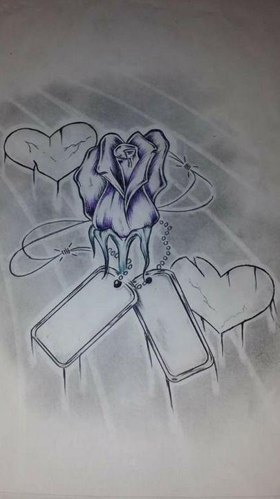 Rose&Dog Tags - Jonnys art