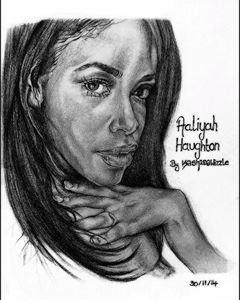 Aaliyah pencil drawing