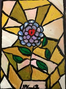 Stained Glass Flower. PTSD Survivor.